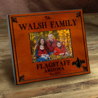 Personalized Wood Picture Frames - Pine Tree Motif