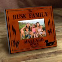 Personalized Wood Picture Frames - Mallard Duck Lake Motif