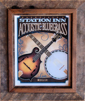 Rustic Picture Frames - 9x12 Hobble Creek Barnwood and Alder Frame