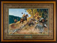 Elk Omelette -  Framed Western Print by Clark Kelley Price