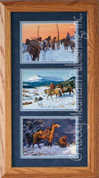 The Home Gate, Clark Kelley Price Cowboy Art Framed Set