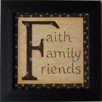 Faith, Family, Friends Framed Quote