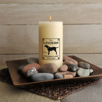 Personalized Labrador Dog Cabin Candle