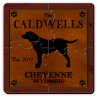 Personalized Labrador Coaster Puzzle