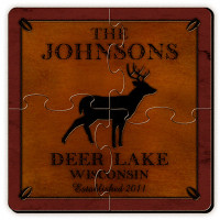 Personalized Deer Coaster Puzzle