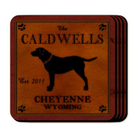 Personalized Labrador Dog Coaster Set