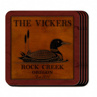 Personalized Loon Coaster Set