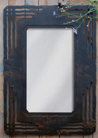 """Wrought Iron Mission Style Mirror - 36"""" Wall Mirror"""