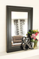 Black Wall Mirror - Alpine Overmantel Mirror