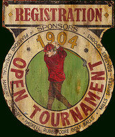 Golf Tournament Vintage Sign
