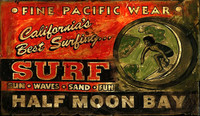 Vintage Beach Signs - Surf Shop - Half Moon Bay
