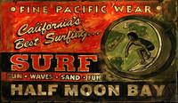 Vintage Beach Signs - Surf Shop - Half Moon Bay