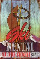 Vintage Signs - Ski Rental Nostalgic Retro Skiing Sign