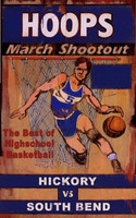 Vintage Basketball Sign - Hoops