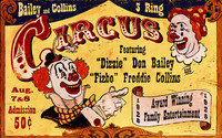 Vintage Circus Sign - Dizzie Clowns Nostalgic Advertisement Sign