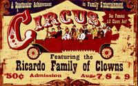 Ricardo Family Circus Clowns Custom Vintage Sign
