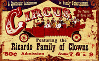 Ricardo Family Circus Clowns Custom Vintage Sign