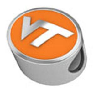 Virginia Tech Enamel Bead