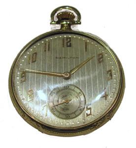 14K 23 jewel Hamilton pocket watch