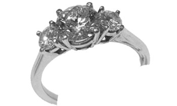 Three diamond ring 1.51ctw