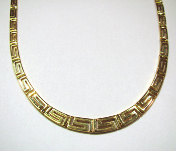 18K Greek key collar
