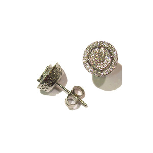 Diamond Cluster Halo Studs