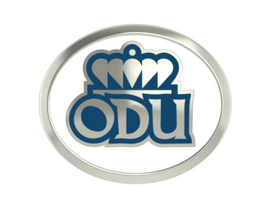 ODU Premium bead - two different sides in Sterling with enamel