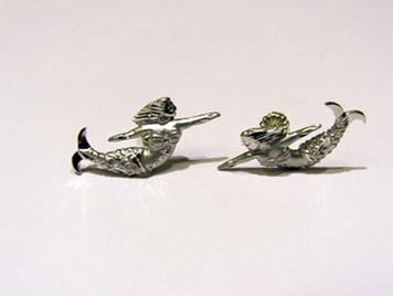 Sterling Mermaid stud earrings