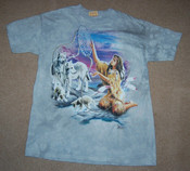 Under a Purple Sky Wolf Maiden T-shirt, Size Medium