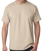 New! Sand Cotton  T-Shirt 12 Pack, Made in USA!