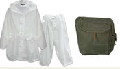 Canadian Military Issue Winter Whites - Grade 2 & Gas Mask Bag Combo