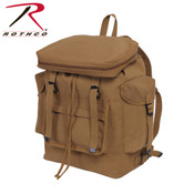 Rothco Canvas European Style Rucksack - Coyote Brown