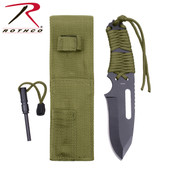Rothco Large Paracord Knife W/ Fire Starter - OD