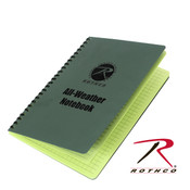 Rothco All Weather Waterproof Notebook - OD