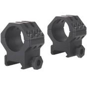 "Weaver, 6 Hole Tactical Rings - 1"" High, Matte Black"