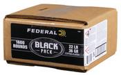 Federal Black Pack .22LR 36gr CPHP 1600rds