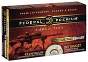 Federal Gold Medal 6.5 Creedmoor 130 GR Berger Hybrid 200rds