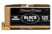 Blazer Brass 45 ACP 230gr FMJ Black Pack - 300rds