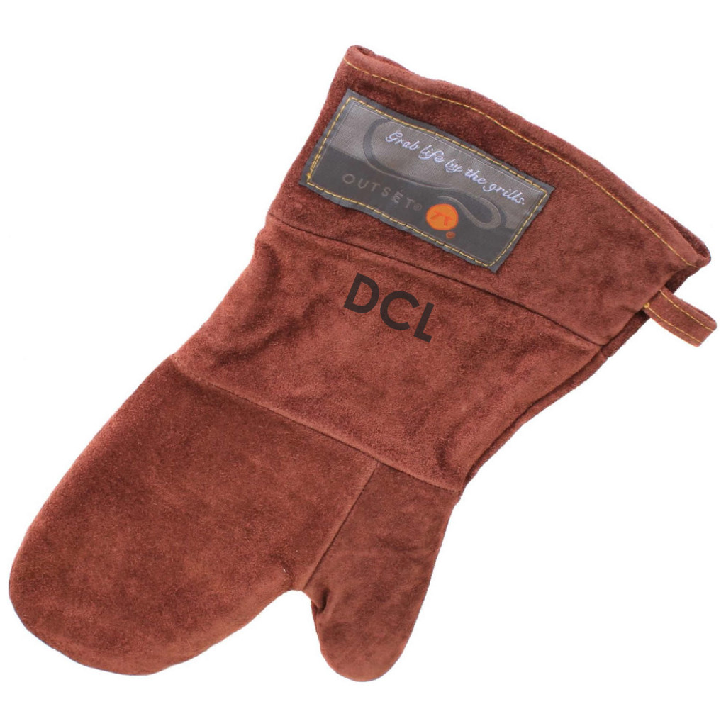 Personalized Leather Grill Mitt