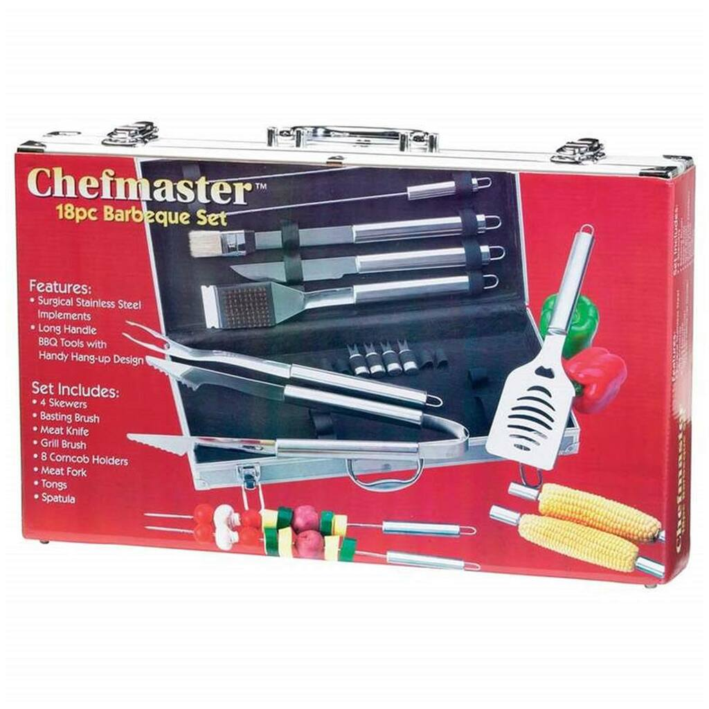 Chefmaster 18-Piece BBQ Tool Set w/Case