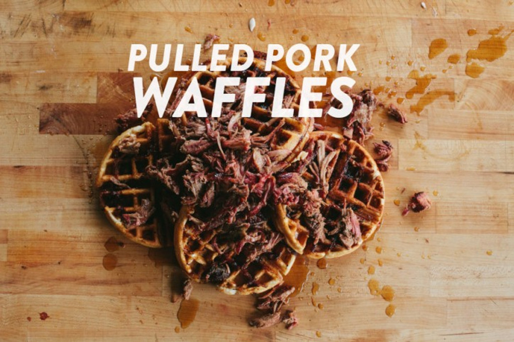 Recipes: Pulled Pork Waffles with Bourbon Maple Syrup