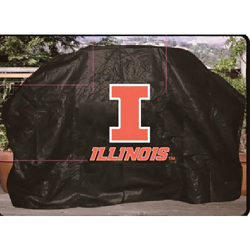 Illinois Fighting Illini Grill Cover