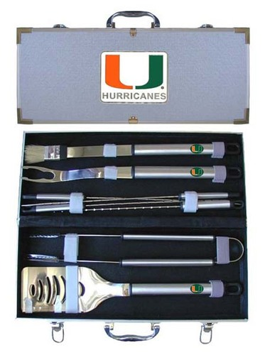 Miami Hurricanes BBQ Tool Set