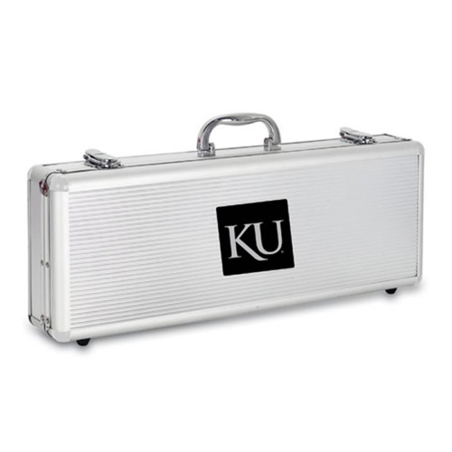 Kansas Jayhawks BBQ Tools and Engraved Case
