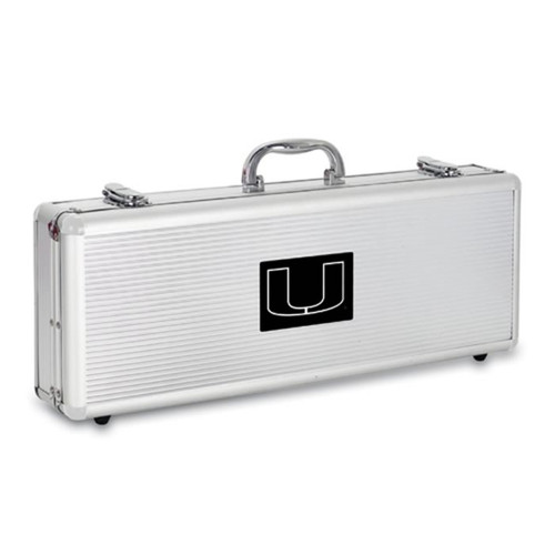 Miami Hurricanes BBQ Tools and Engraved Case