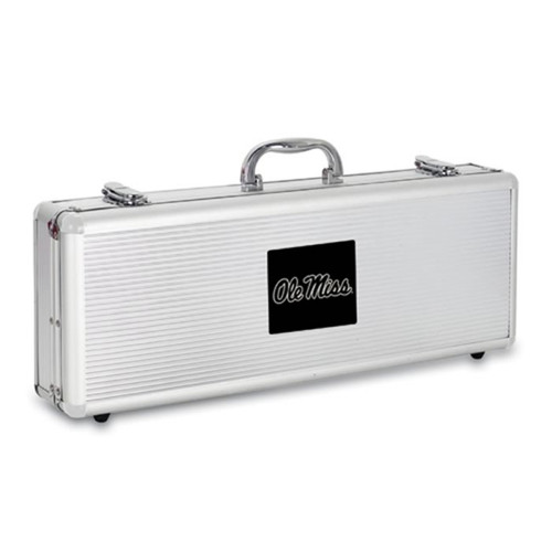Mississippi Runnin Rebels BBQ Tools and Engraved Case