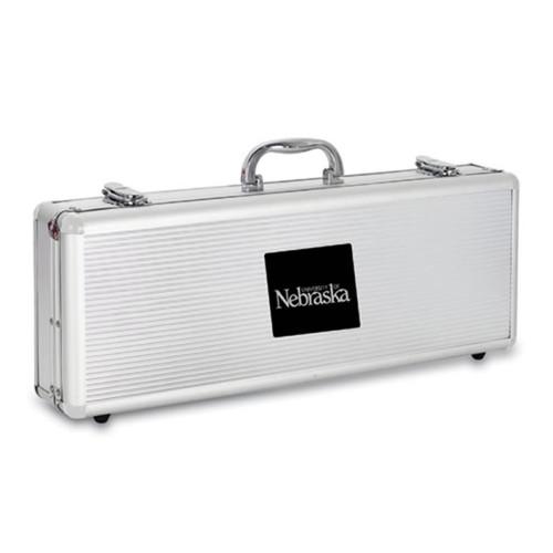 Nebraska Cornhuskers BBQ Tools and Engraved Case