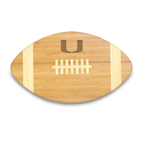 Miami Hurricanes Engraved Football Cutting Board