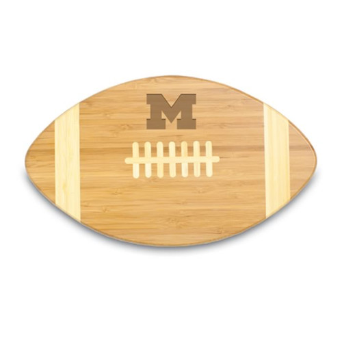 Michigan Wolverines Engraved Football Cutting Board