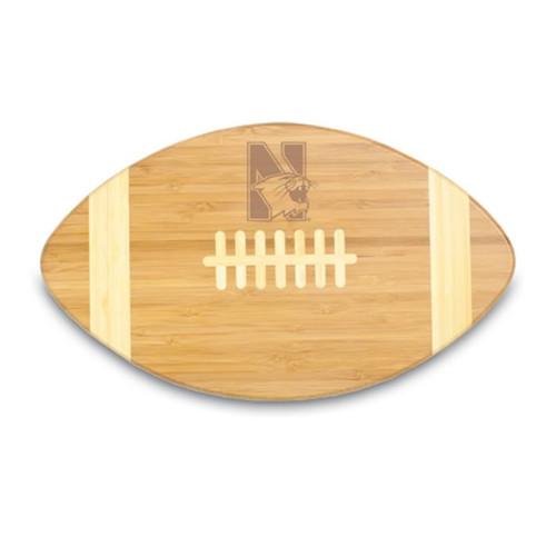 Northwestern Wildcats Engraved Football Cutting Board